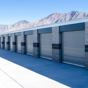 Climate controlled modern storage units at A-Side Self Storage