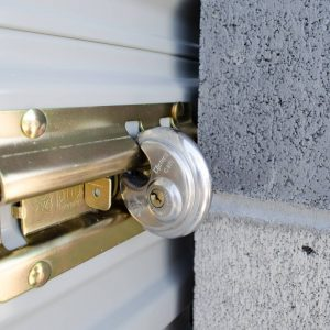 A lock on one of our secure storage units in Springville Utah